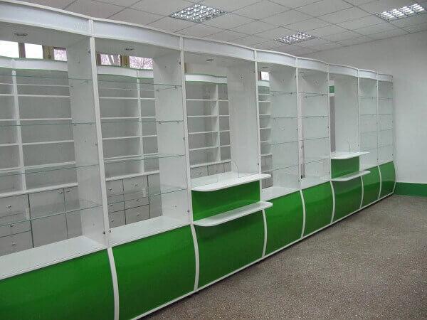 Зеленая мебель для аптеки на заказ